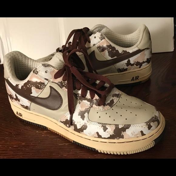 Camouflage Olive Originale Herren Schuhe Nike Air Force 46